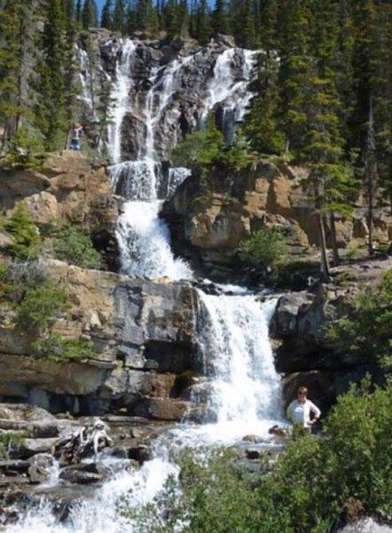chutes de Tangle - La route des Glaciers - Rocheuses canadiennes