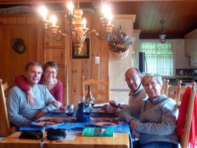 1er repas à Val des Lacs - Québec