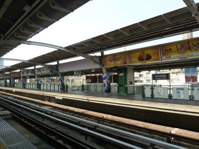 La station de métro de Bangkok