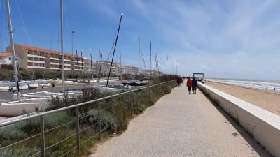 La promenade de la plage centrale - Notre Dame-de-Monts