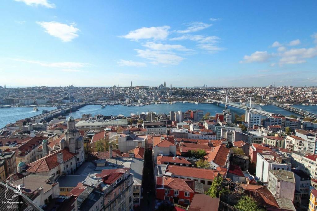 Vue du haut de la Tour de Galata à Istanbul en Turquie dans mon article Mon itinéraire en Turquie: Que faire, voir et visiter en 7 jours #turquie #voyage #asie #cappadoce #istanbul