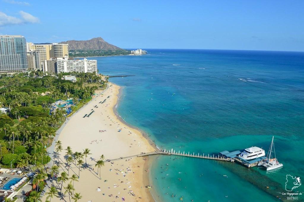 Plage Ala Moana à Honolulu dans notre article Que faire à Honolulu sur l'île d'Oahu à Hawaii #oahu #honolulu #hawaii #hawaï #voyage
