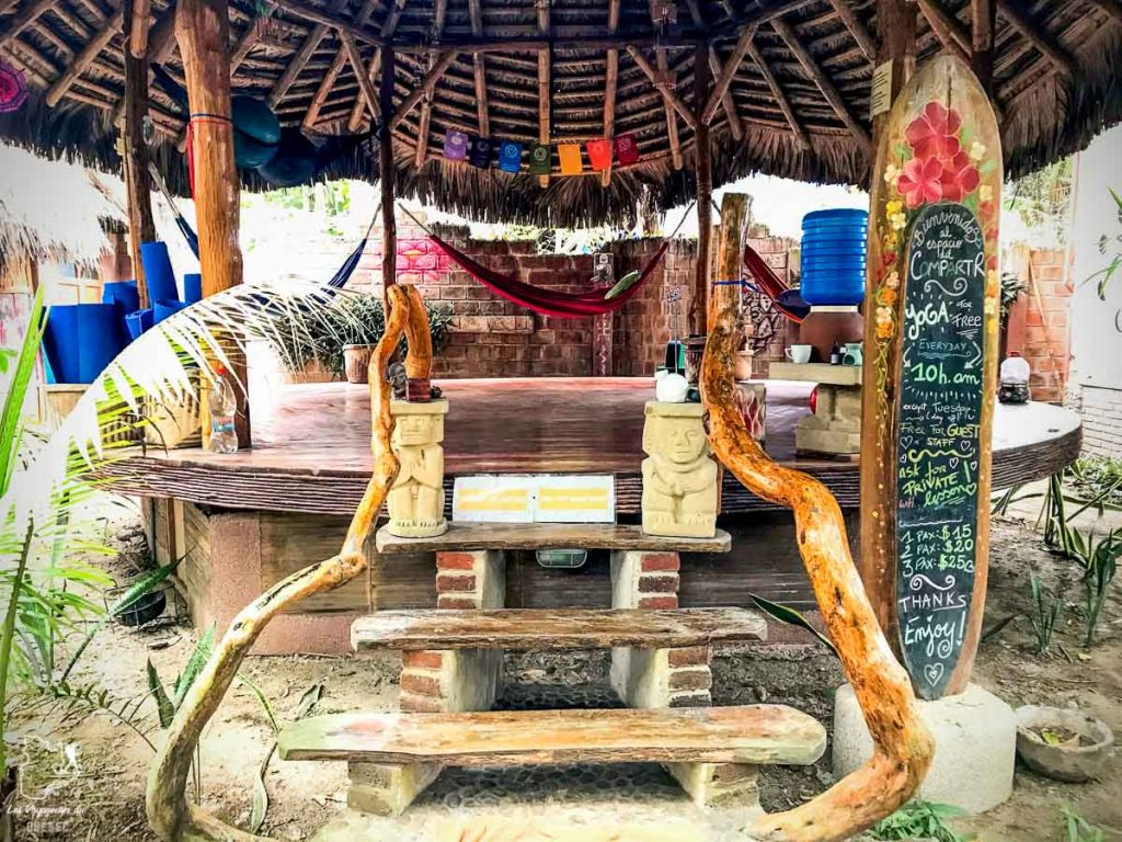 Le studio de Yoga du Balsa Surf Camp en Équateur dans notre article Surf en Équateur : Mon expérience dans un camp de surf à Montañita #surf #equateur #campdesurf #montanita