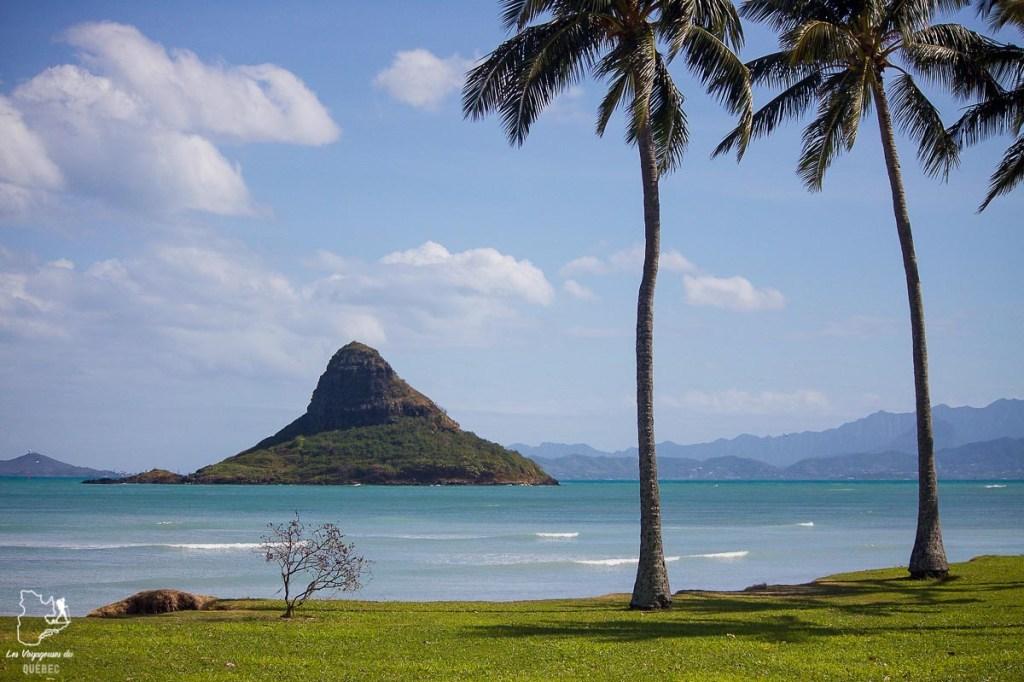 Chinaman's Hat sur l'île d'Oahu dans notre article L'île d'Oahu à Hawaii : Activités incontournables à faire lors d'un road trip #oahu #roadtrip #ile #hawaii