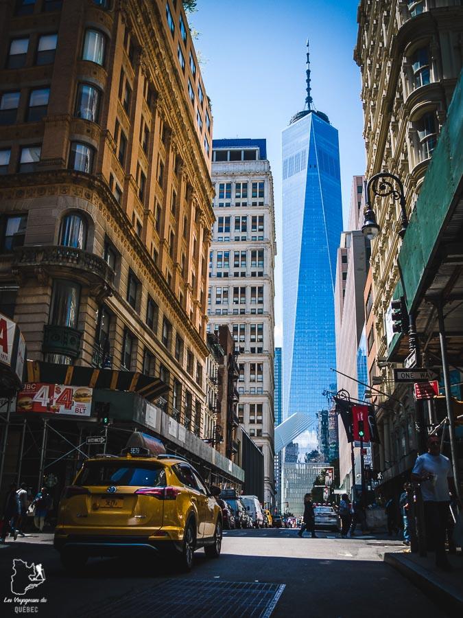 One World Trade Center dans Manhattan à New York dans notre article Manhattan à New York : exploration urbaine des quartiers de Manhattan #newyork #ville #usa #manhattan #etatsunis #amerique #citytrip #financialdistrict #oneworldtradecenter