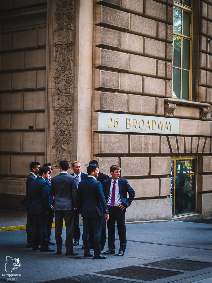 Quartier Financial District dans Manhattan à New York dans notre article Manhattan à New York : exploration urbaine des quartiers de Manhattan #newyork #ville #usa #manhattan #etatsunis #amerique #citytrip #financialdistrict