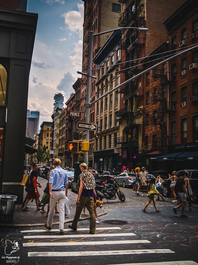 Quartier de Soho dans Manhattan à New York dans notre article Manhattan à New York : exploration urbaine des quartiers de Manhattan #newyork #ville #usa #manhattan #etatsunis #amerique #citytrip #soho
