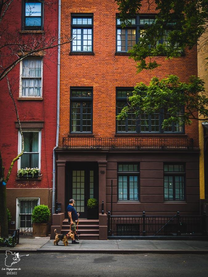 Quartier résidentiel de Greenwich Village dans Manhattan à New York dans notre article Manhattan à New York : exploration urbaine des quartiers de Manhattan #newyork #ville #usa #manhattan #etatsunis #amerique #citytrip #greenwichvillage