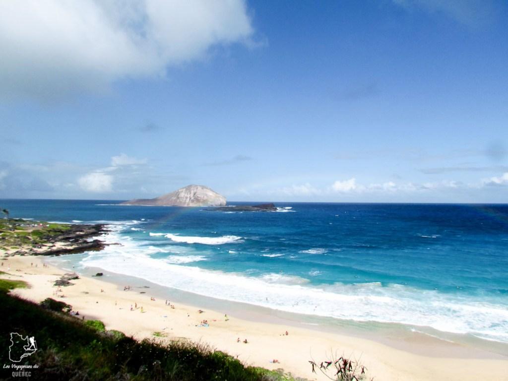 Makapu'u Beach, spot de bodyboard à Oahu dans notre article Le surf à Oahu : Mes plus beaux spots de surf sur cette île d'Hawaii #surf #oahu #waikiki #usa #voyage #spotdesurf