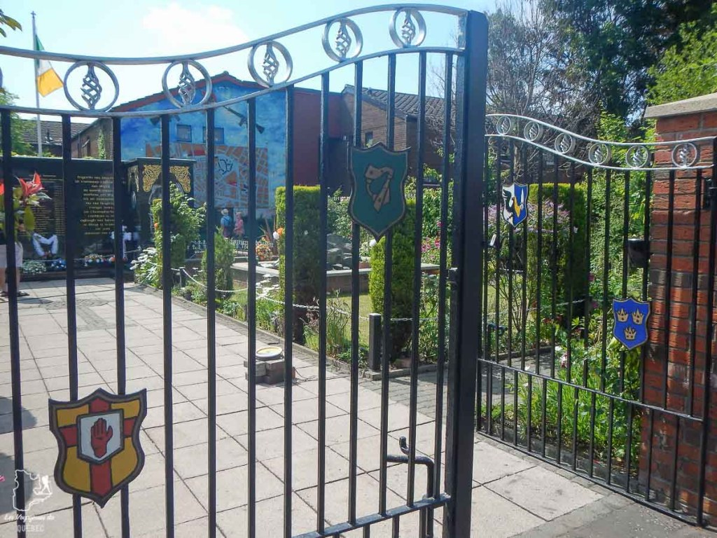 Garden of Remembrance du côté républicain de Belfast dans notre article Visiter Belfast en Irlande du Nord : que faire à Belfast, un musée à ciel ouvert #belfast #irlandedunord #royaumeunis #voyage #citytrip #europe