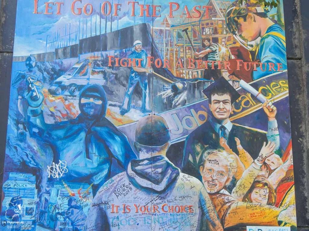 Murale de paix sur le Peace wall de Belfast dans notre article Visiter Belfast en Irlande du Nord : que faire à Belfast, un musée à ciel ouvert #belfast #irlandedunord #royaumeunis #voyage #citytrip #europe