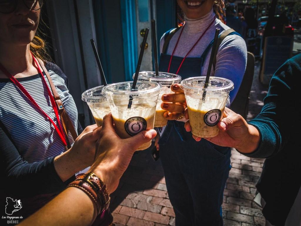 Smoothie Blake Orchard lors d'un food tour à Portland dans notre article Visiter Portland : Quoi faire à Portland dans le Maine pour un weekend gourmand #Portland #Maine #USA #voyage #foodtour