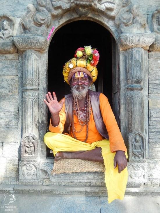 Sadhu à Katmandou au Népal dans notre article Mon tour du monde d'un an à 50 ans : le voyage d'une vie #tdm #tourdumonde #voyage #voyageunan #senior
