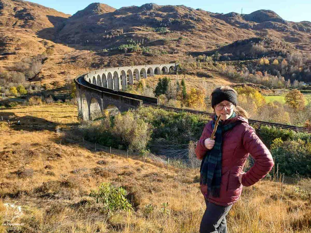 Viaduc de Glenfinnan dans les Highlands en Écosse dans notre article Road trip en Écosse : Une semaine de road trip sportif et gastronomique #ecosse #roadtrip #europe #grandebretagne #royaumeunis #voyage