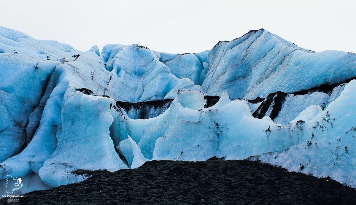 Le glacier Solheimajokull, mon coup de coeur visité en Islande dans notre article Visiter l'Islande : quoi faire et voir en 4 jours seulement #islande #europe #voyage