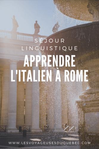Séjour linguistique en Italie : apprendre l'Italien à Rome
