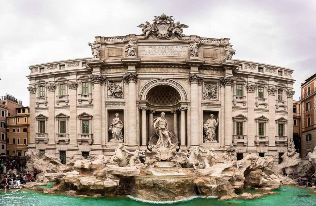 La fontaine de Trevi, un incontournable à visiter à Rome dans notre article Visiter Rome en 4 jours : Que faire à Rome, la capitale de l'Italie #rome #italie #europe #voyage