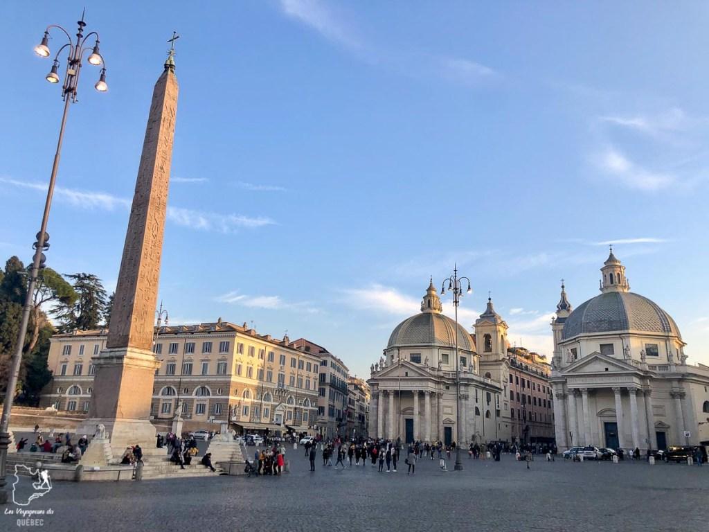 Piazza de Popolo à Rome dans notre article Visiter Rome en 4 jours : Que faire à Rome, la capitale de l'Italie #rome #italie #europe #voyage