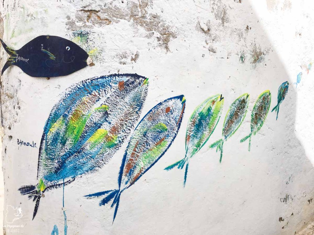 Symbole du poisson à Hammamet dans notre article Visiter la Tunisie : Comment faire un voyage en Tunisie autrement #tunisie #afrique #voyage #hammamet