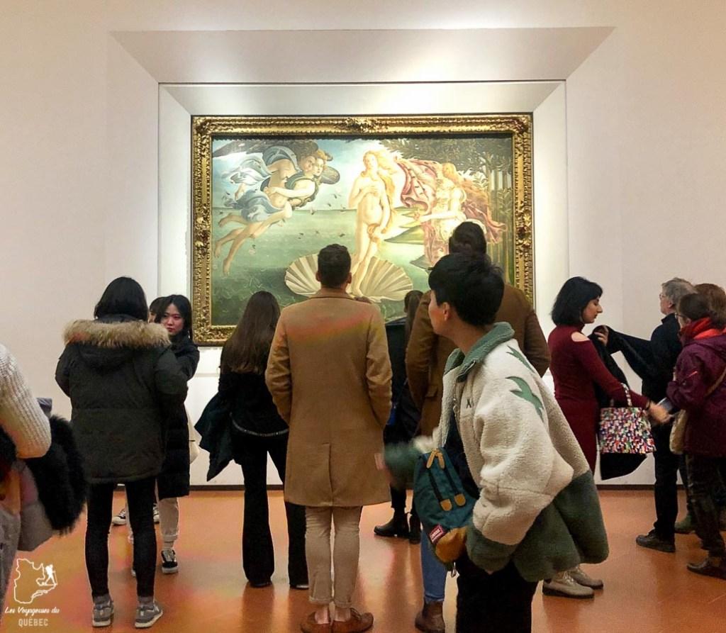 La naissance de Vénus au Galleria degli Uffizi à Florence dans notre article Visiter la Toscane en Italie : Mes incontournables de que faire et voir en 10 jours #toscane #italie #europe #voyage #itineraire #florence