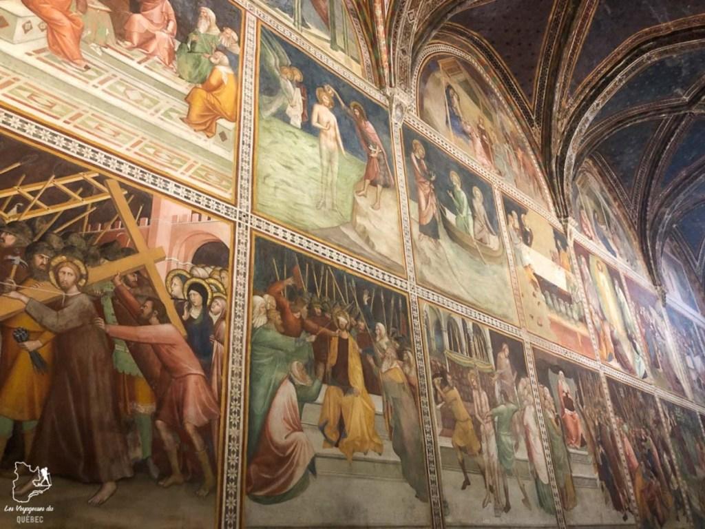 Les peintures du Duomo di San Gimignano en Toscane dans notre article Visiter la Toscane en Italie : Mes incontournables de que faire et voir en 10 jours #toscane #italie #europe #voyage #itineraire #sangiminiano
