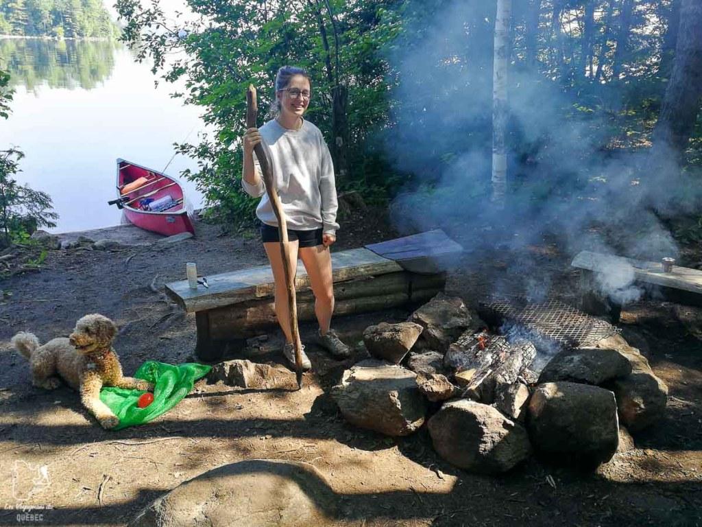 Canot-camping au Parc du Poisson Blanc avec mon chien dans notre article Voyager avec son chien au Québec : Que faire et où aller #quebec #chien #voyager