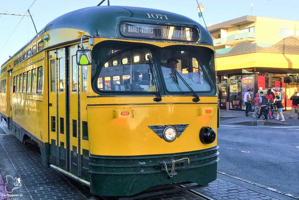Tramway Bus F à San Francisco dans notre article Villes de la Californie : une semaine à San Francisco, Los Angeles et San Diego #californie #usa #etatsunis #voyage #losangeles #sanfrancisco #sandiego