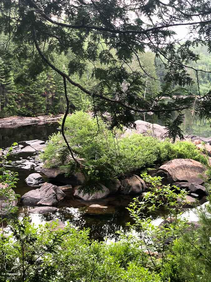 La rivière Ouareau en randonnée dans Lanaudière dans notre article Randonnée dans Lanaudière : 100 km sur le sentier national (sentier de la Matawinie) #randonnee #lanaudiere #matawinie #sentiernational #quebec #canada