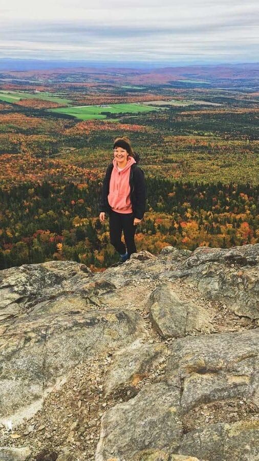 Randonnée pédestre en automne au Mont-Ham dans notre article La randonnée au Québec : 8 randonnées pédestres au Québec testées et approuvées #randonnee #randonneepedestre #quebec #canada