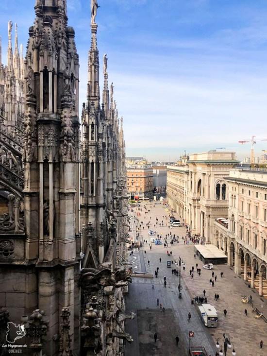 Vue du toit de la Cathédrale Duomo di Milano à Milan dans notre article Visiter Milan en Italie : 8 incontournables de que voir et que faire en 3 jours #Milan #Italie #Europe #voyage