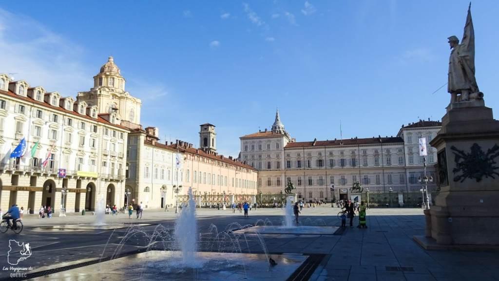 Piazza Castello à Turin dans notre article Visiter Turin en 1 jour : Que voir et que faire à Turin en Italie #turin #italie #europe #voyage