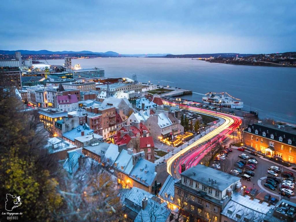 Photographier la ville de Québec à partir de la Terrasse Dufferin dans notre article Visiter Québec à travers ses plus beaux points de vue : 12 endroits où photographier la ville de Québec #quebec #villedequebec #canada #photographie