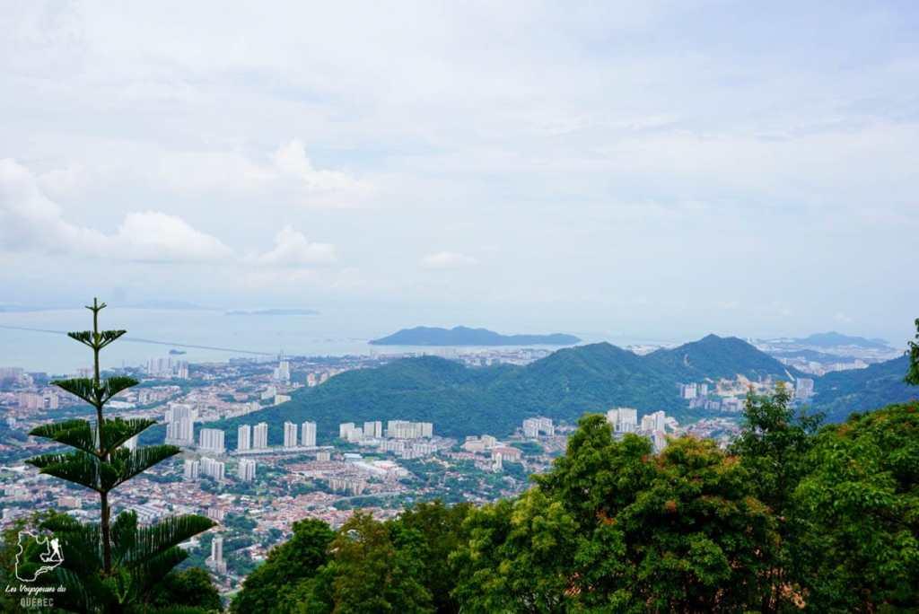 Vue sur Georgetown depuis Penang Hill dans notre article Georgetown en Malaisie : Visiter Georgetown en 5 incontournables à ne pas manquer #georgetown #malaisie #asie #voyage