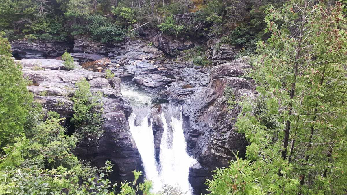 Chute du Mont Albert dans notre article 4 randonnées en Gaspésie incontournables du Parc de la Gaspésie et des Chic-Chocs #randonnee #Gaspesie #chicchocs #sepaq #quebec