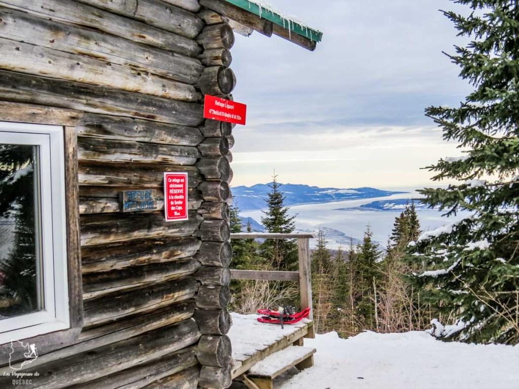 Randonnée sur le sentier des Caps de Charlevoix dans notre article 10 activités hivernales au Québec : quoi faire au Québec en hiver #hiver #quebec #canada #activites