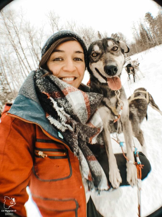 Balade en chiens de traîneau dans notre article 10 activités hivernales au Québec : quoi faire au Québec en hiver #hiver #quebec #canada #activites