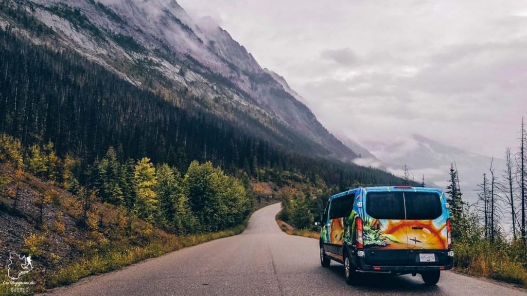 Notre van lors de notre voyage dans l'Ouest canadien dans notre article Voyager au Canada en temps de pandémie : Mon voyage dans l'Ouest canadien #canada #ouestcanadien #pandemie #covid19 #voyage