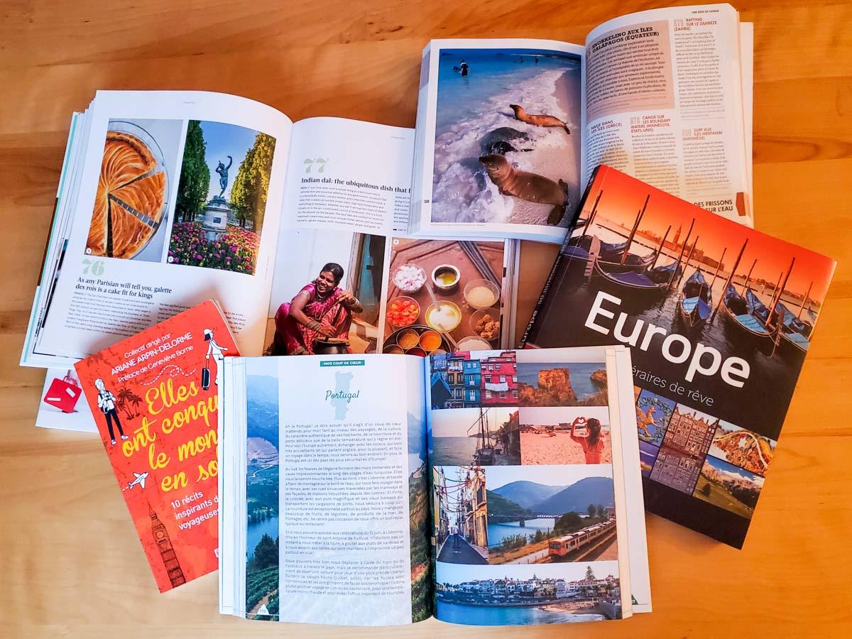 Lire des livres de voyage dans notre article Voyager par procuration : 10 manières de se sentir en voyage à la maison #voyager #voyage #chezsoi #procuration