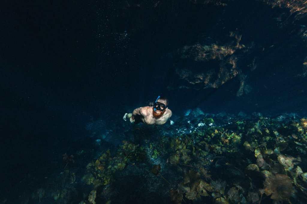 Plongée grottes de Rio Secreto dans le Quintana Roo au Mexique dans notre article Quoi faire à Playa del Carmen et dans le Quintana Roo au Mexique en indépendant #playadelcarmen #quintanaroo #mexique #voyage #caraibes #yucatan