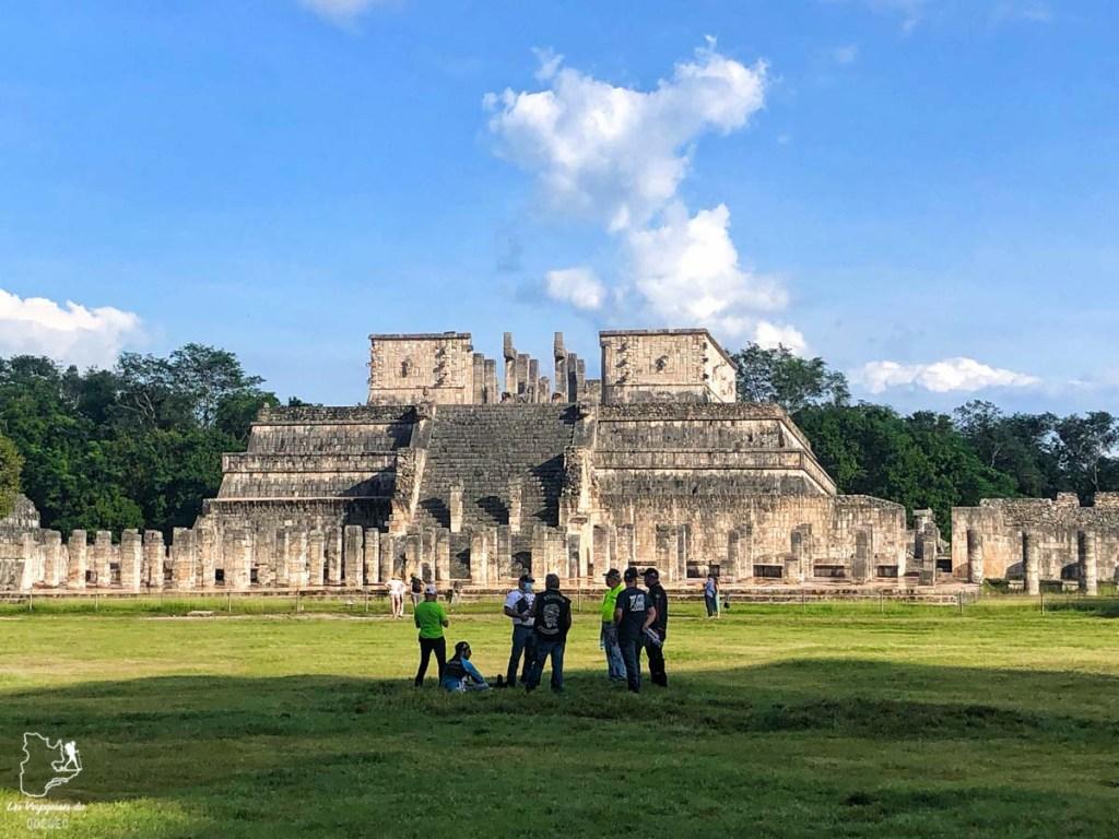 Architecture maya à Chichén Itzá au Mexique dans notre article Quoi faire à Playa del Carmen et dans le Quintana Roo au Mexique en indépendant #playadelcarmen #quintanaroo #mexique #voyage #caraibes #yucatan