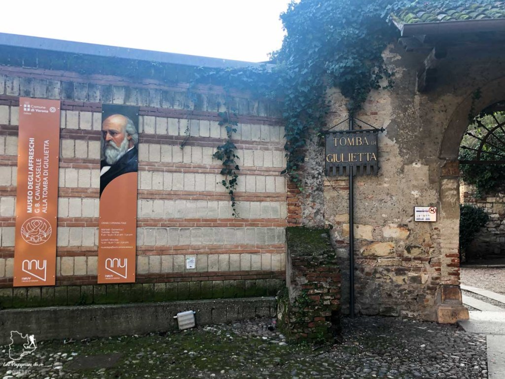 Tombeau de Juliette à Vérone dans notre article Visiter Vérone en Italie : mes incontournables de la ville de Roméo et Juliette #verone #italie #venetie #voyage #europe