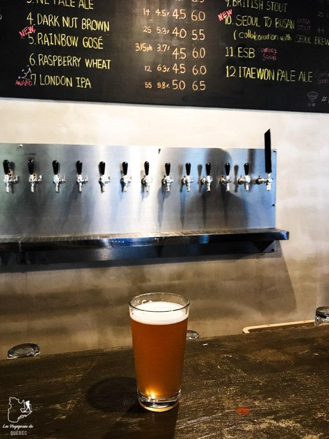 Bière du Gorilla Brewing à Busan dans notre article Visiter Busan en Corée du Sud : Quoi faire à Busan en 7 incontournables #coreedusud #asie #voyage #busan
