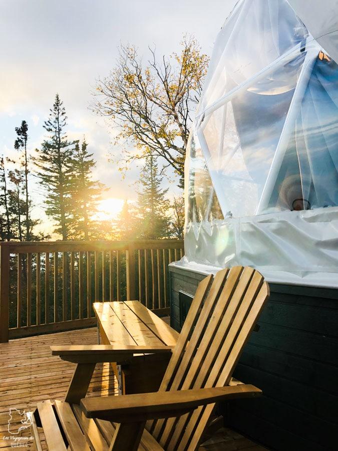 Géodôme sur le Mont St-Joseph à Carleton-sur-Mer en Gaspésie dans notre article Nuit en montagne: 5 endroits où dormir au sommet d'une montagne au Québec #quebec #montagne #sommet #hebergement