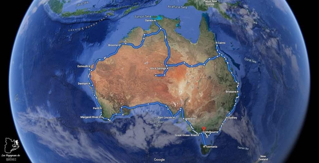 Itinéraire de road trip en Australie dans notre article Tout savoir pour préparer son road trip en van en Australie #australie #roadtrip #van #voyage