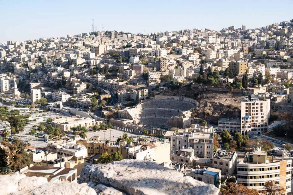 La citadelle Amman en Jordanie dans notre article Visiter la Jordanie: Mon itinéraire de 2 semaines en road trip en Jordanie #jordanie #road trip #voyage