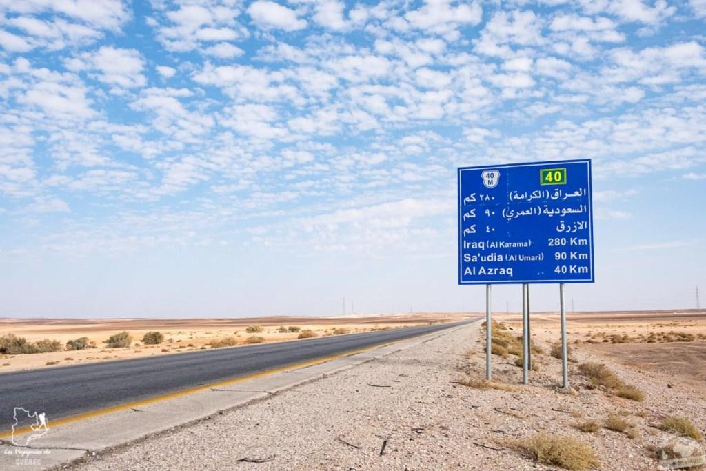 Frontière de la Jordanie et d'Irak dans notre article Visiter la Jordanie: Mon itinéraire de 2 semaines en road trip en Jordanie #jordanie #road trip #voyage