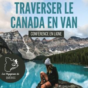 conférence en ligne Canada en van