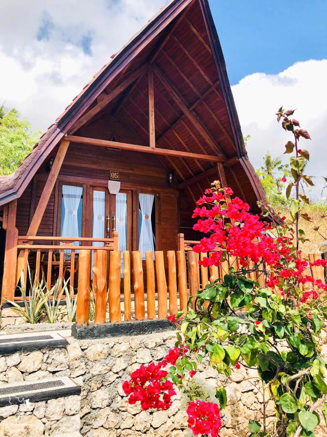 Notre Airbnb à Nusa Penida à Bali dans notre article Oser partir en voyage au bout du monde malgré des barrières #voyage #oservoyager
