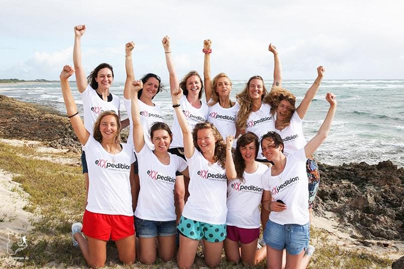 Équipage entièrement féminin de la mission eXXpedition dans notre article Elle participe à Mission eXXpedition : projet écologique en mer totalement féminin #exxpedition #ecologie #environnement #voilier #femme #voyage