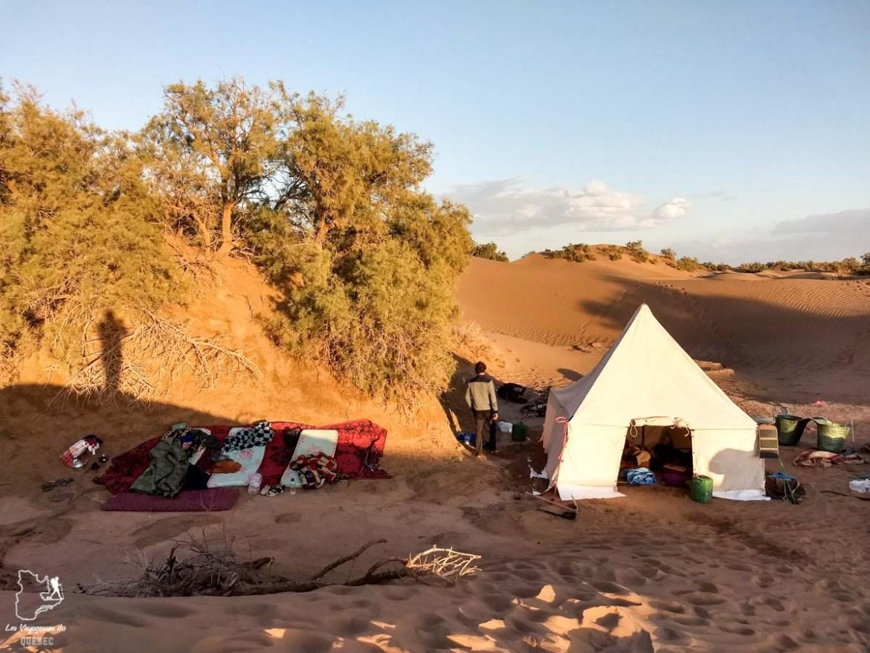 Bivouac lors de la randonnée dans le désert du Sahara au Maroc dans notre article Trek dans le désert du Maroc : Ma randonnée de 5 jours dans le désert du Sahara #desert #maroc #sahara #randonnee #trek #voyage